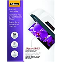 Fellowes Laminating Pouches, Thermal, SuperQuick 11.5(H) x 9(W) Size, 3 Mil, 100 Pack (5245801)