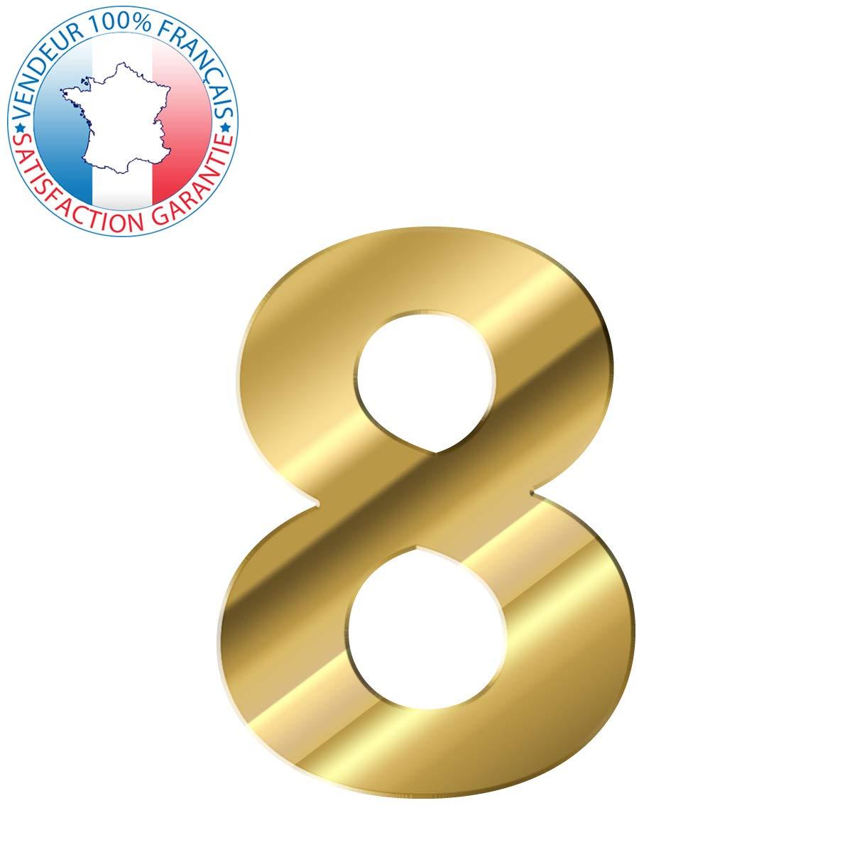 16 coloris disponibles Num/éro de rue bronze Chiffre 7 Hauteur 8 cm Num/éro de maison chiffres et lettres adh/ésifs d/écoup/és