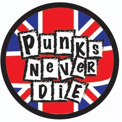 OTA STICKER PUNKS NEVER DIE (2PACK) BRAND MUSIC ROCK HEAVY METAL EMO LOGO SCRAPBOOK WINDOW HELMET MOTORCYCLE CHOPPER DOOR SKATEBOARD CAR LAPTOP NOTEBOOK LUGGAGE CASING PHONE TABLET MIRROR SYMBOL DECAL