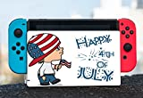 Cute Boy with American Flag Hat Happy 4th of July Quote Celebration Image Design Pattern Nintendo Switch Dock Vinyl Decal Sticker Skin by Trendy Accessories