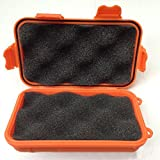 MeiBoAll Outdoor Plastic Waterproof Shockproof Airtight Survival Boxes,Small Size,Orange