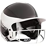 RIP-IT Vision Pro Softball Away Color Helmet with Face Guard – Exceeds NOSCAE Protection Standards – Comfortable and Lightweight with Uninhibited Visibility – Black – Medium/Large