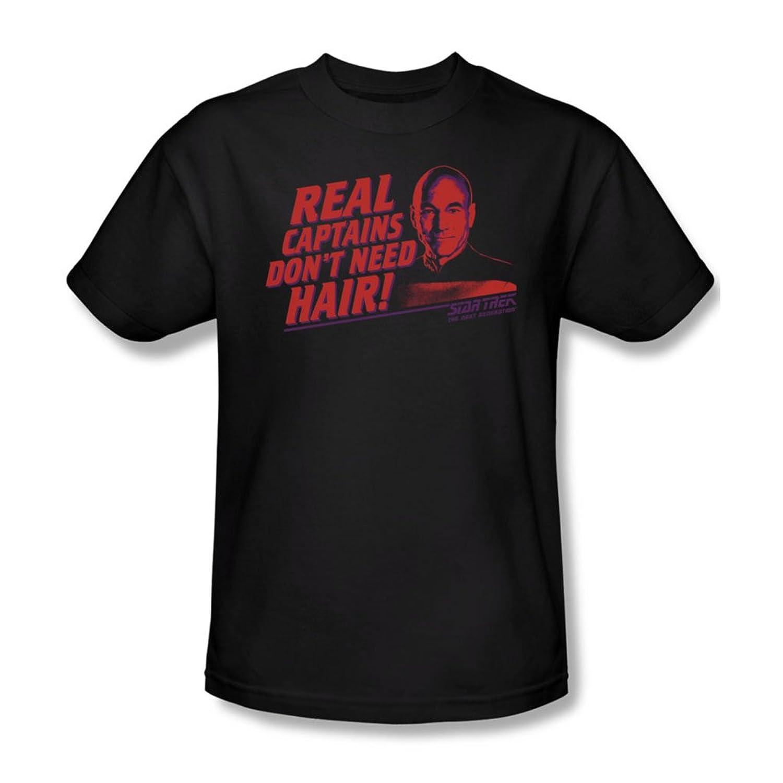 Star Trek - Mens Real Captain T-Shirt In Black