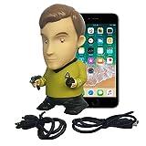 Star Trek Vinyl Action Figure | Captain Kirk Bluetooth Speaker with Microphone - Plays Music & Speaks 9 TOS Phrases voiced by William Shatner - Unique Collectibles, Memorabilia for Star Trek Fans