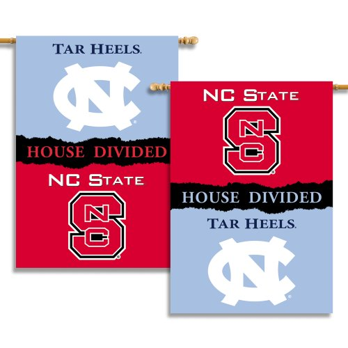 NCAA N. Carolina - Nc State 2-Sided 28-by-40 inch House Banner with  Pole Sleeve- Rivalry House ()