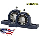 2 PIECE- UCP207-20 Pillow Block Bearing 1-1/4 inch Size Bore, Solid Base, Self-Alignment By Jeremywell