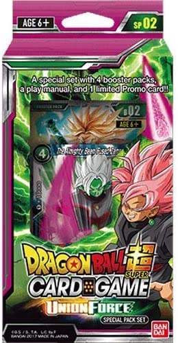 Dragon Ball Z Super Union Force TCG Special Pack English Card Game - 4 boosters + promo!: Amazon.es: Juguetes y juegos