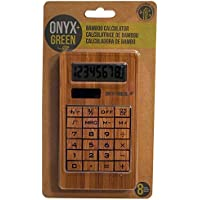 Onyx and Green Solar Powered 8 Digit Calculator made from Bamboo (4404)