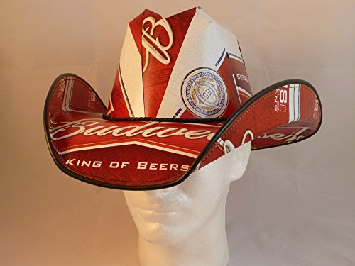 Beer Box Cowboy Hat made from recycled BUDWEISER - Box Hat Beer Cowboy