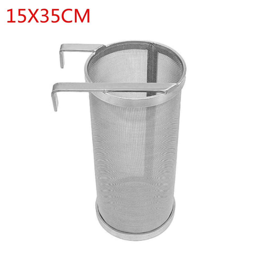 300 Micron Stainless Steel Homemade Brew Beer Hop Mesh Filter Strainer with Hook (15X35CM) by MAYAGU