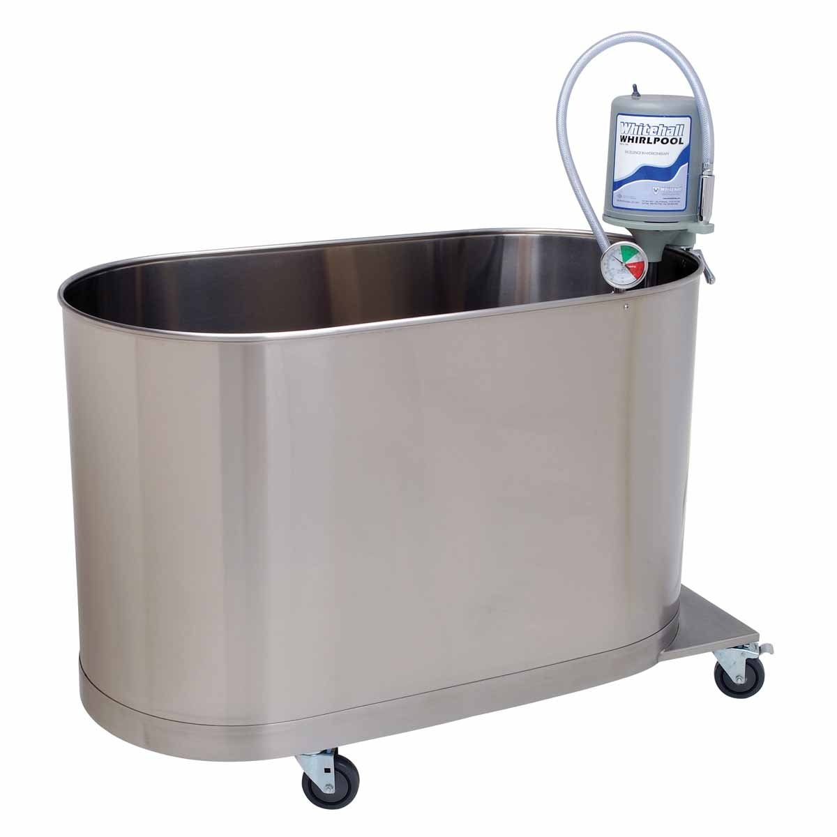 Image of Bathtubs Whitehall 42-1228 Hi-Boy Whirlpool, Mobile H-105-M, 48' Length x 24' Width x 28' Depth x 34' Height, 105 gal Capacity, Stainless Steel