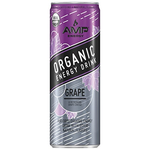 AMP Energy, Organic Energy Drink, Grape, 12 oz Cans (12 Pack)