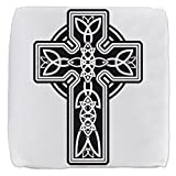 13 Inch 6-Sided Cube Ottoman Celtic Cross