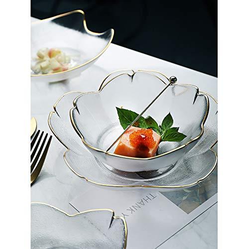 2 PACK Salad Bowl - Serving Bowl - Fruit Bowl - Candy Dish - Decorative Centerpiece Bowl - Best for Serving Fruit Salad Candy Popcorn Punch Chips Pasta - Unique Modern Design (Cherry Blossoms)