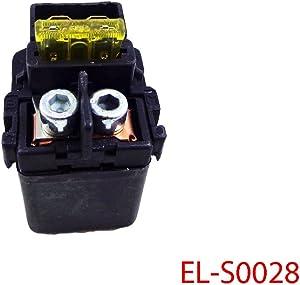 Solenoid Starter Relay for Kawasaki Ninja 650 650R EX650 ZX6R ZX6RR ZX7R ZX7RR ZX9R ZX10R ZX12R ZX14 ZX600 ZX636 ZX750 ZX900 ZX1000 ZX1200 ZX1400