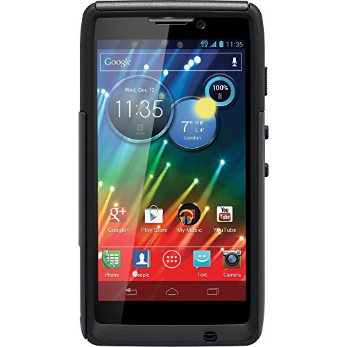 OtterBox Commuter Series Case for Motorola RAZR HD - Retail Packaging - Black (Discontinued by Manufacturer) (Renewed) ()