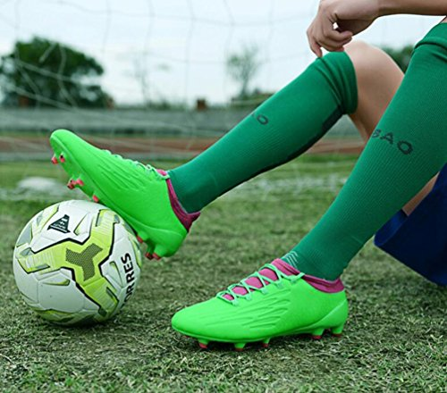 Shoes Soccer HUAN Spike Shoes Color Boots Football Professional E Training Boy's Men 39 Unisex Lawn Teenagers Size Outdoor vrOvwY