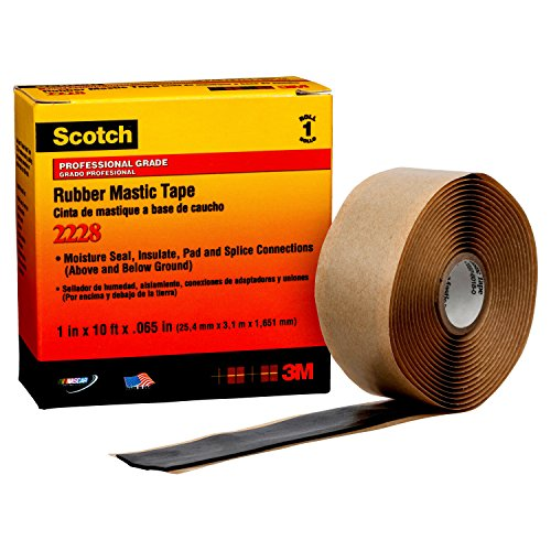 - 3M 2228 Scotch Moisture Sealing Electrical Tape, 1 in x 10 ft x 0.65 in