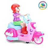 Smiles Creation Battery Operated Bump & Go Doll Motorcycle With Flashing Light And Sounds Effects.