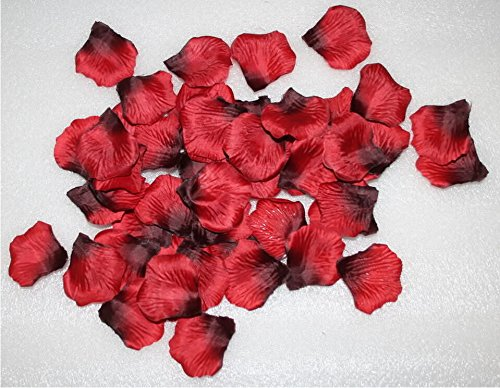 Magik 1000~5000 Pcs Silk Flower Rose Petals Wedding Party Pasty Tabel Decorations, Various Choices (1000, Red & Black)