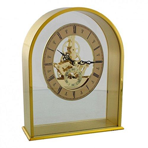 Widdop arqué Fini doré Mouvement à quartz Horloge de cheminée avec cadran...