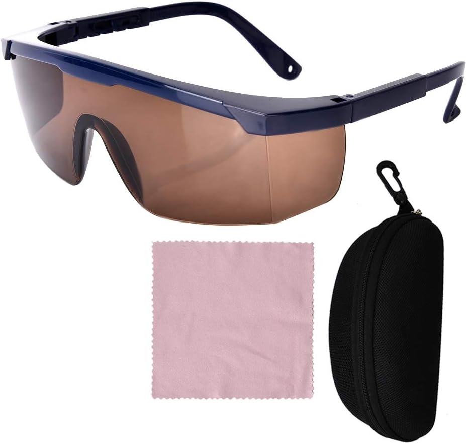 Caiqinlen Valentine's Day Present Gafas La-ser, cómodas Gafas de protección La-ser de Alta Gama, Electricista científico de plástico ABS para Soldador