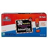 Elmer's Disappearing Purple School Glue Sticks, Washable, 22 Gram, 30 Count (E605)
