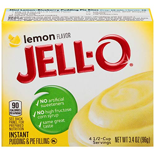 - Jell-O Instant Lemon Pudding & Pie Filling, 3.2 oz Box