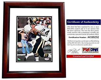 Archie Manning Signed - Autographed New Orleans Saints 8x10 inch Photo  MAHOGANY CUSTOM FRAME - PSA 1c1bc6b0c