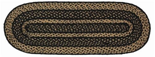 - VHC Brands Classic Country Primitive Tabletop & Kitchen - Farmhouse Jute Black Runner 13