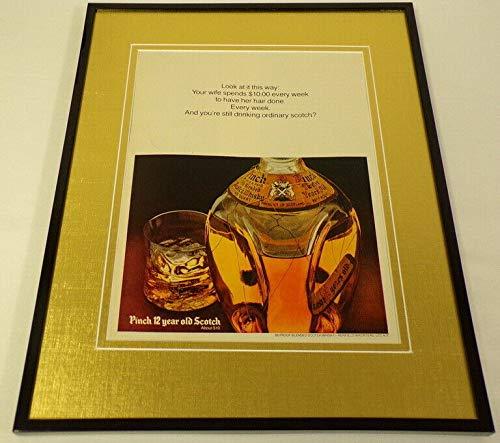 1973 Pinch 12 Year Old Scotch Framed 11x14 ORIGINAL Vintage Advertisement