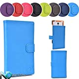 Semi Hard Cover Case for Allview X1 Soul Mini + Sliding Stand Feature (Bleu de France Blue | Flame Orange) + NEXTDIA Cable Tie by Kroo