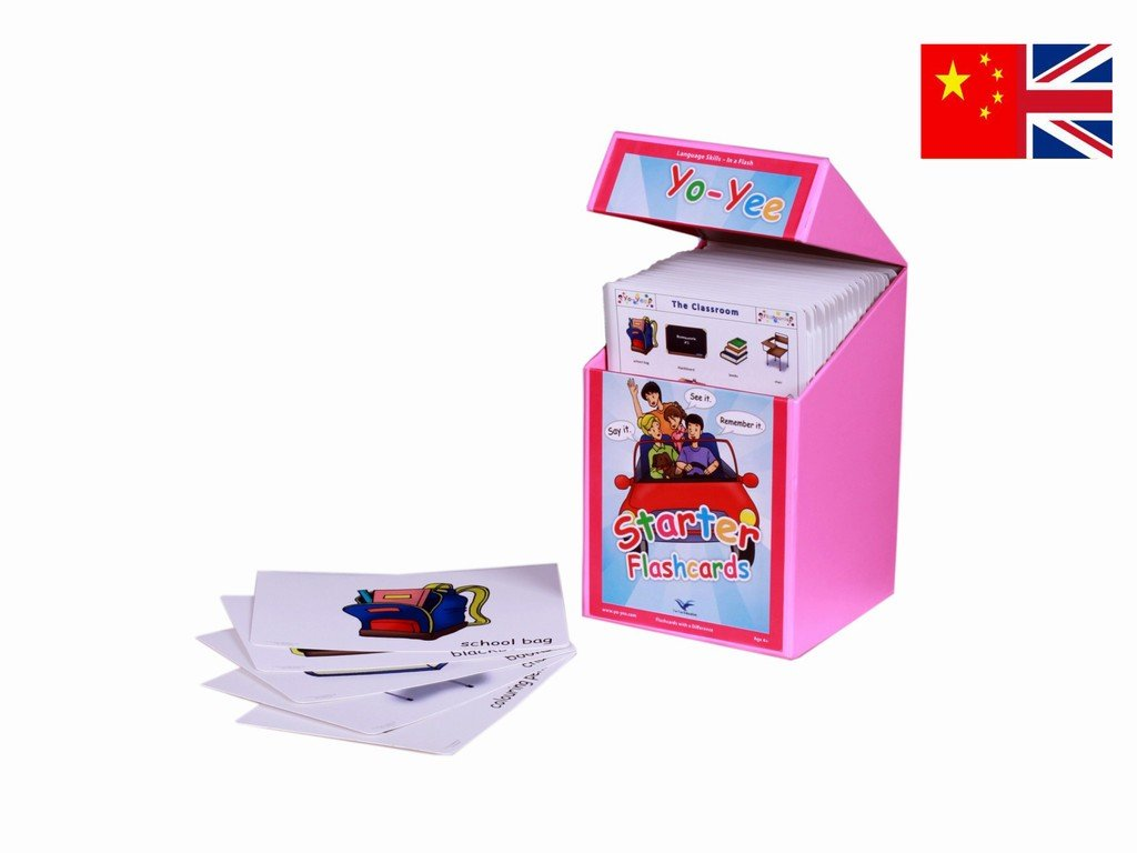 Chinese Starter Flash Cards Kit for Teachers - Mandarin and Pinyin Flashcards