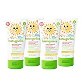 Baby : Babyganics Mineral-Based Baby Sunscreen Lotion, SPF 50, 2oz Tube (Pack of 4)