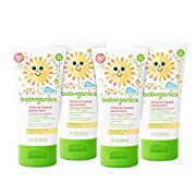 Babyganics Mineral-Based Baby Sunscreen Lotion, SPF 50, 2oz Tube (Pack of 4)
