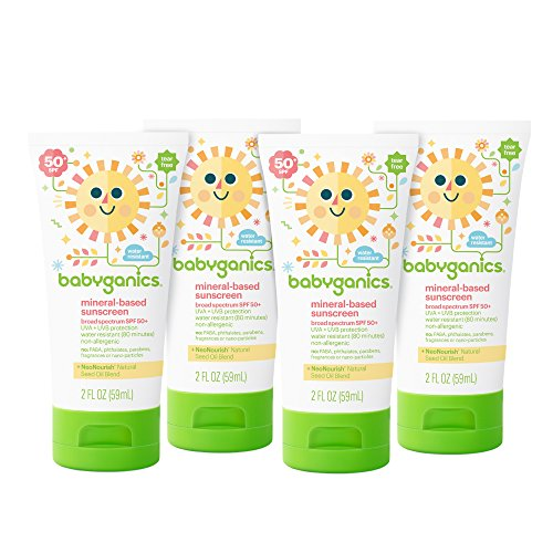 Babyganics Mineral-Based Sunscreen SPF 50, 6 oz, Packaging May Vary