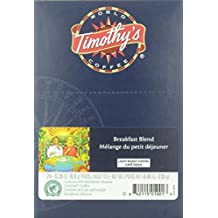 Timothy's World Breakfast Blend Coffee K-Cups for Keurig Brewers 96 Count