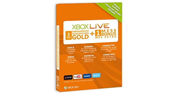 Microsoft Xbox 360 - Tarjeta Live 3 Meses Gold + 1 Mes ...