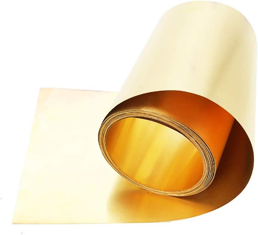 SOFIALXC Metall Messingblech Aus Oberfl/äche Blank Im Zuschnitt 100mmX3000mm-Thickness 0.2mm