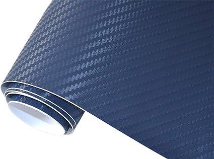5 M2 Auto Folie 3d Carbon Folie Dunkel Blau 200 X 150 Cm Selbstklebend Flexibel Car Wrapping Auto