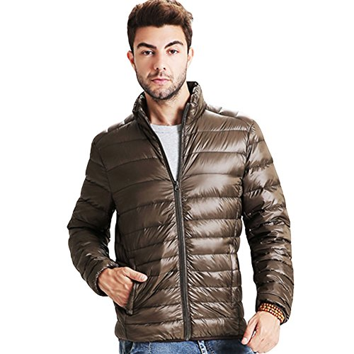 Haodasi Hiver Homme Poids léger Svelte Canard Sous-Vêtement Coat Outwear