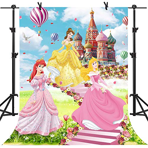 MME 5x7Ft Cartoon Background Fairy Tales Beautiful Princess Children Photography Seamless Vinyl Video Studio Photograph Backdrop LXME551 -
