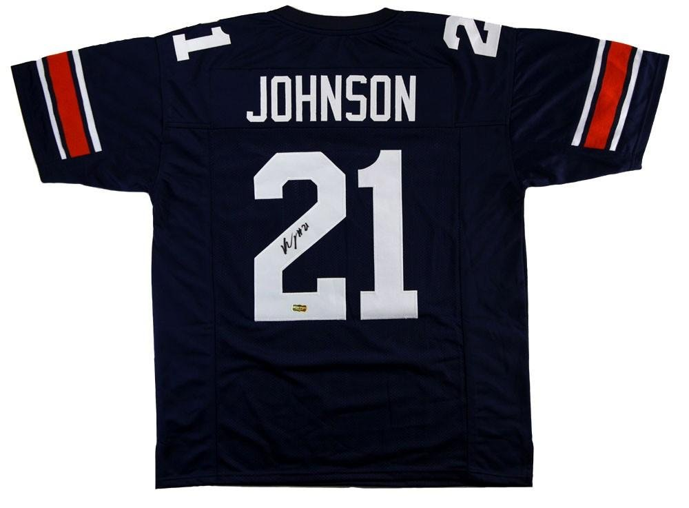 bd2d9a81ffe Kerryon Johnson Autographed Jersey - Custom Blue - Autographed College  Jerseys at Amazon s Sports Collectibles Store