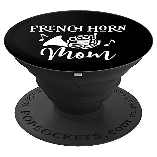 French Horn Mom Marching Band Gift - PopSockets Grip and Stand for Phones and Tablets