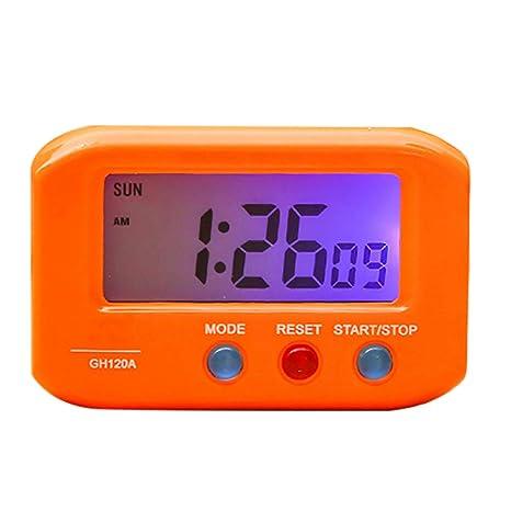JUSTDOLIFE Horloge Digitale Réveil Portable Horloge De Table pour Le ...