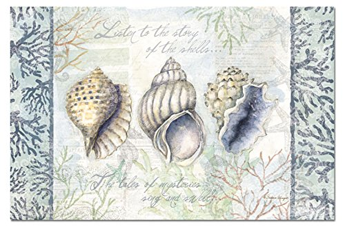 - CounterArt Paper Placemat, Shells and Coral, 24-Pack
