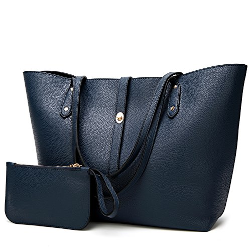 Satchel Bags Tote Women Designer Handbags TcIFE for Shoulder Ladies Blue Wallets X0q8BxwZF