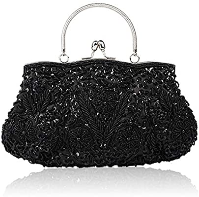 31a71fde47fd Vistatroy Vintage Style Beaded And Glass Beads Evening Bag Wedding ...