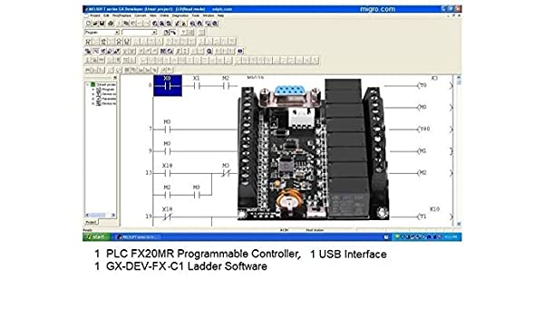 Amazon com: PLC Controller & Programming Software, Ladder Logic