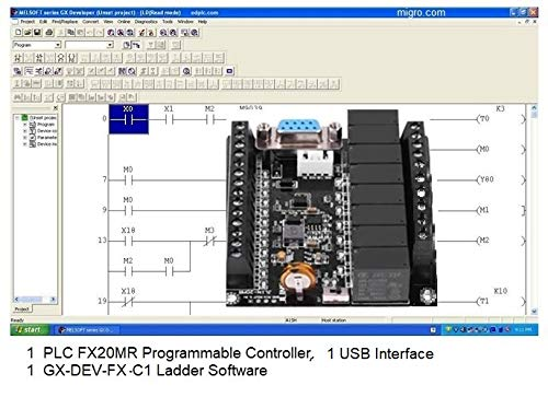 PLC Controller and Programming Software, USB Interface, Ladder Logic Automation w Training Bonus (Plc Programming Software)